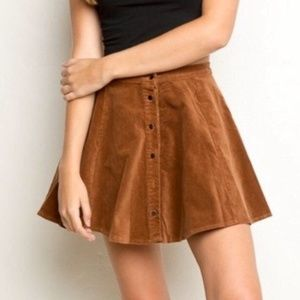 Brandy Melville Brown Suede Skirt